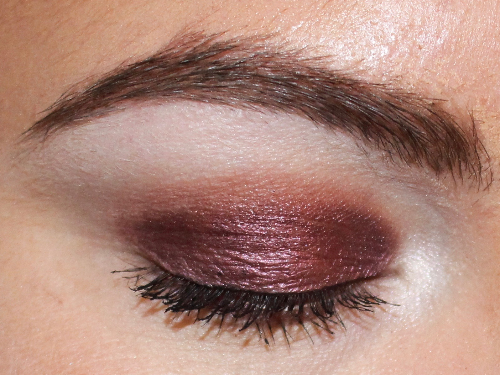 ABH Rosette On The Lid Dusty Rose Blended Into Crease And Lower Lash Line