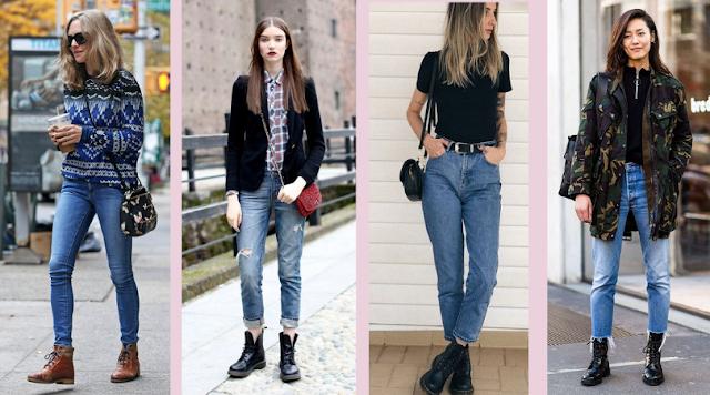 Combo de Estilo: Coturno + Calça Jeans