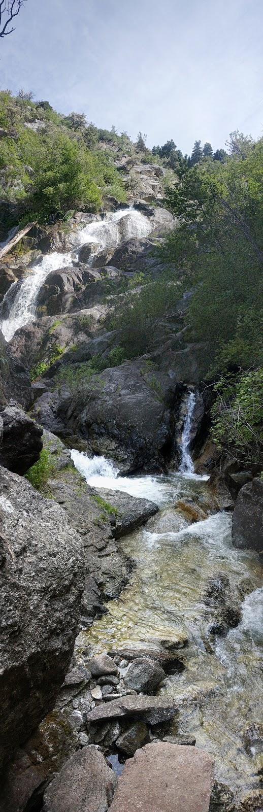 Lower Section of Horsetail Falls Alpine, Utah Lone Peak Wilderness Area