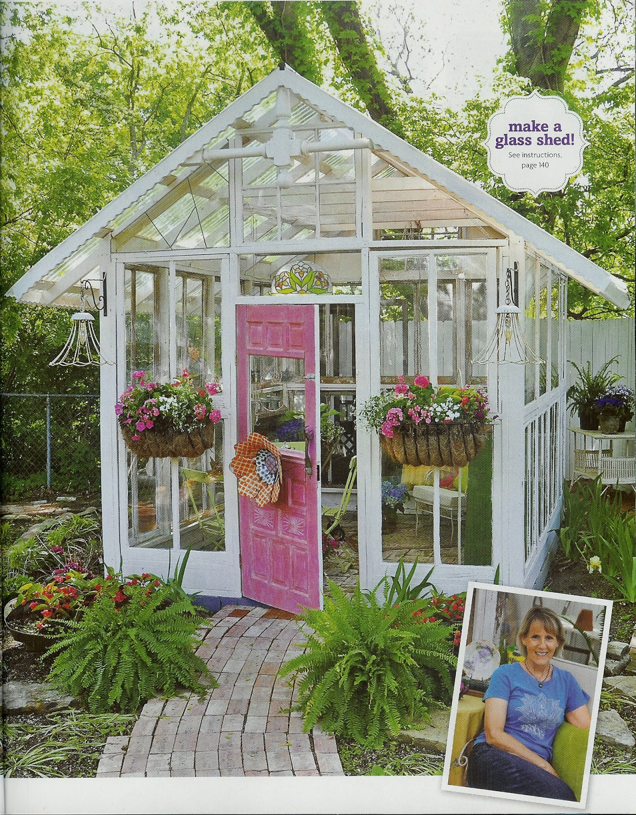 A Garden Shed Made Of Old Windows. There Is Actually A Man At My Haunt,  Vintage Village, That Makes Ones Similar To This.