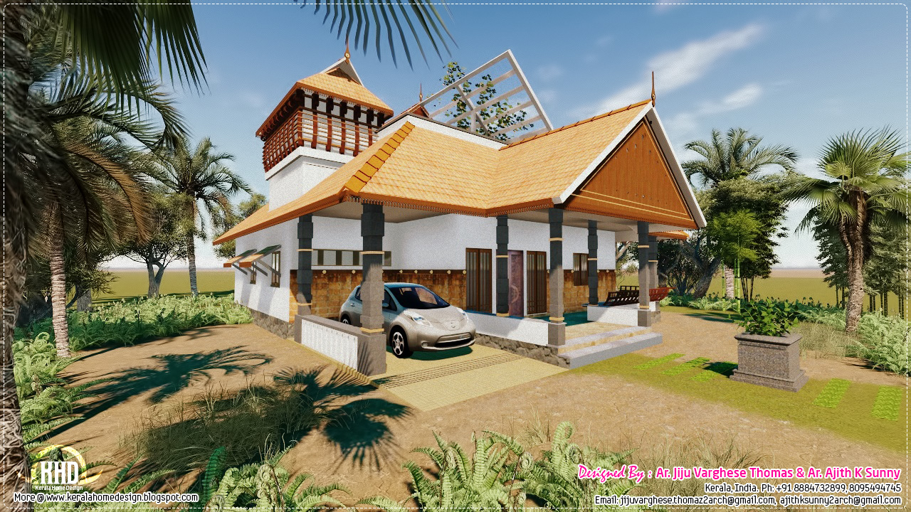 Front Elevation Designs For Ground Floor : Traditional kerala house in sq feet home