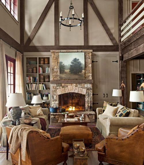 decoracion de interiores habitaciones rusticas: la hora de decorar es el que está a lado y lado de la chimenea