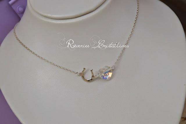 bijou précieux coeur cristal
