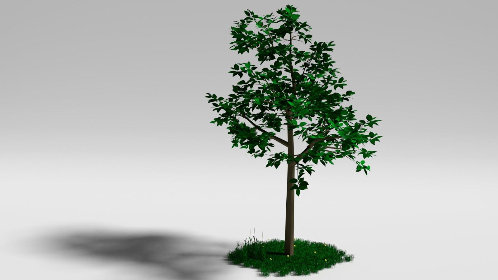 Free 3D Simple Tree .blend file