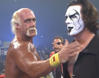 WCW Superbrawl 2000 -  Sting saved Hulk Hogan from a beat down by The Total Package