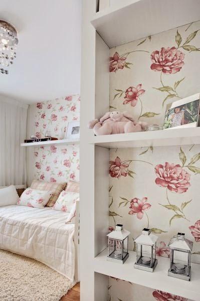 quarto- de- menina- floral-papel-de-parede
