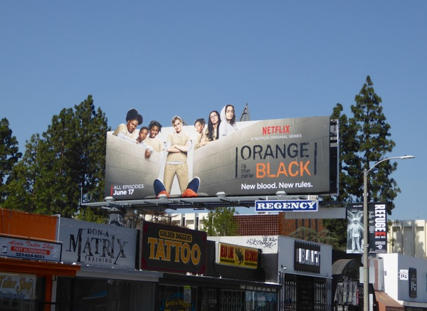 Orange is the New Black 4 special extension billboard