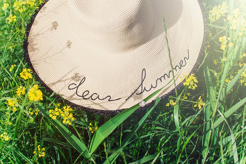 mango summer straw hat