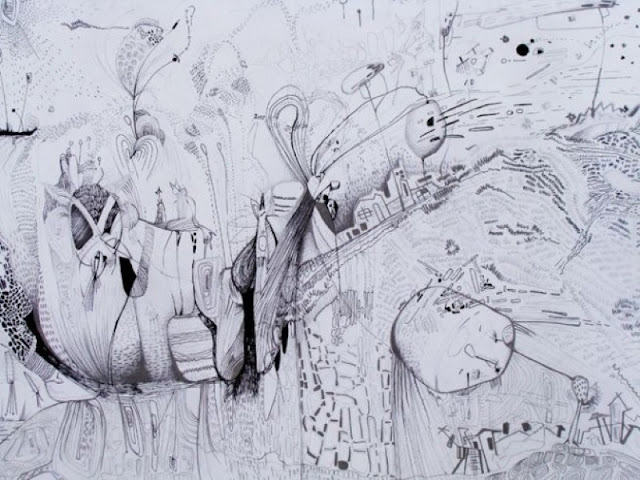 Наивные рисунки акварелью. Estela Cuadro 33