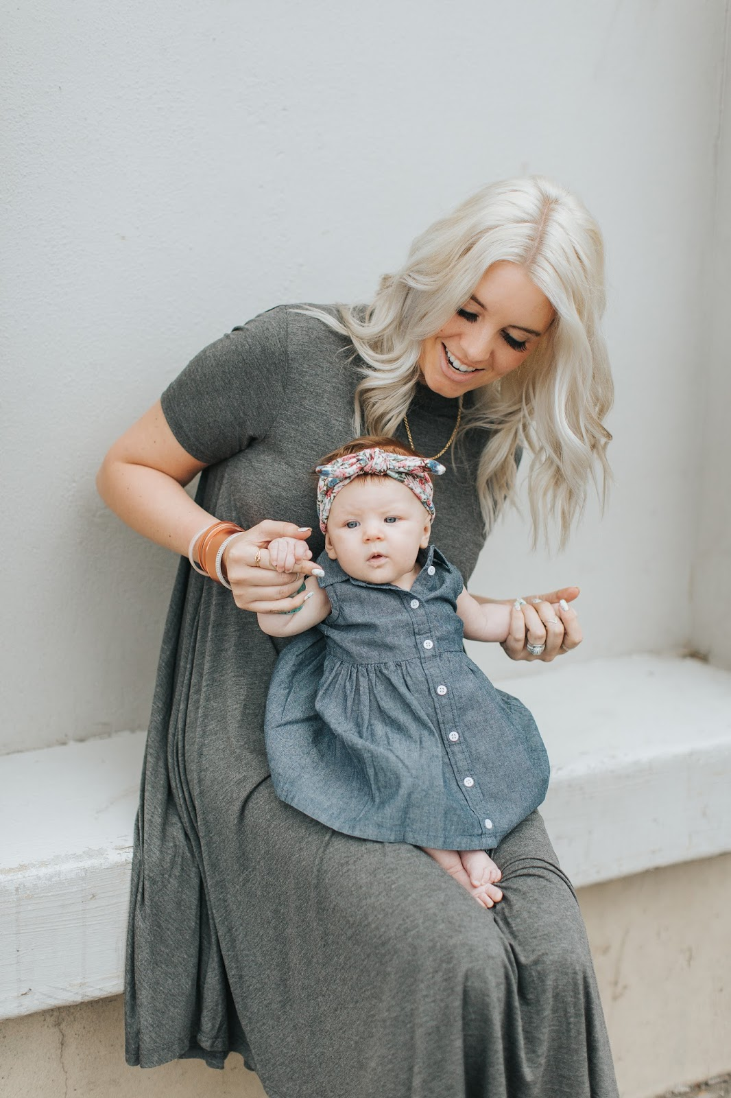 Denim dress, Spring Outfits, Color by Amber
