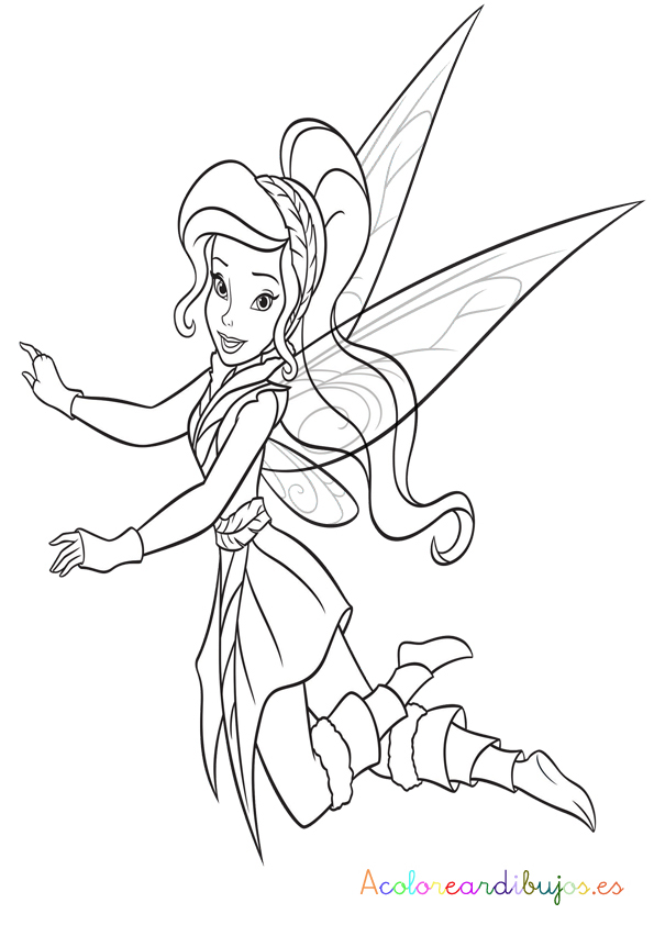 Free coloring pages of hada silvermist