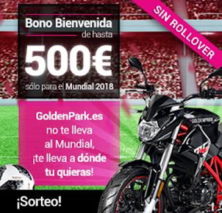 GoldenPark sorteo moto Mundial 2018 hasta 15 julio