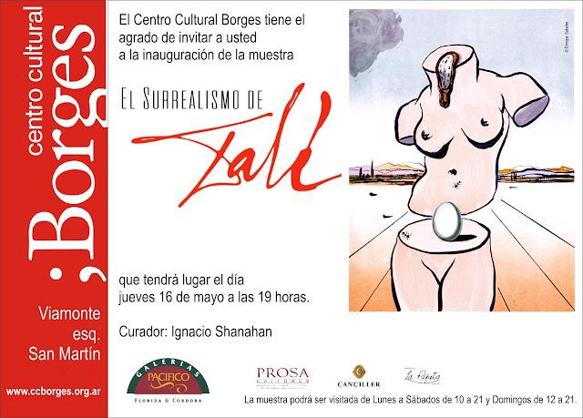 """""""El Surrealismo de Dalí"""" con más de 100 obras graficas originales en el ;Borges"""