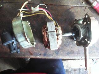 memperbaiki kipas angin yang macet dengan cara mengganti BOS