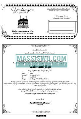contoh undangan walimatussafar