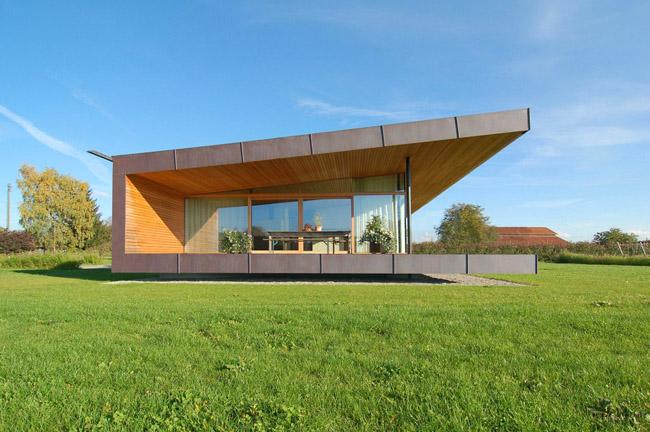 Casas minimalistas y modernas casa minimalista en el campo for Casa tipo minimalista