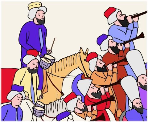 古代オスマン帝国では軍楽をメフテル、軍楽隊はメフテルハーネと呼ばれた
