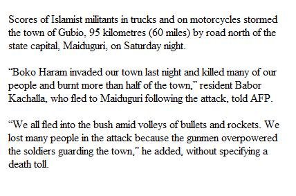 Boko Haram attack latest