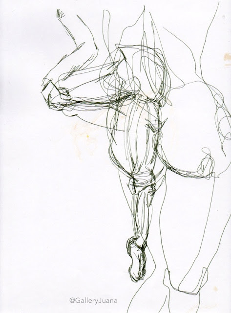figure sketches, gallery Juana