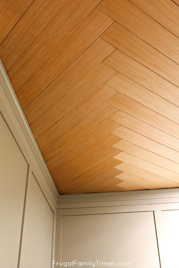 diy herringbone ceiling