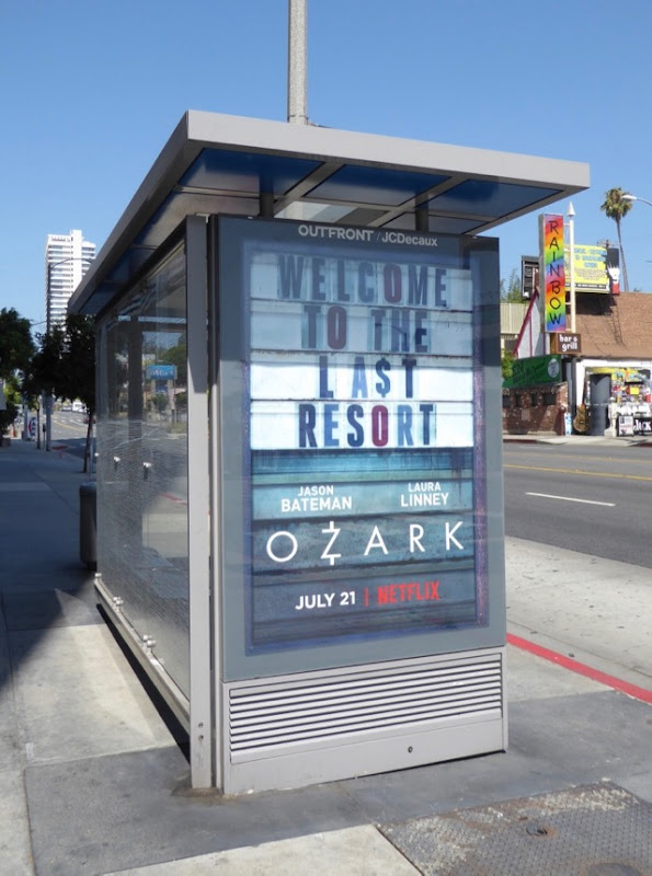 Ozark bus shelter poster ad