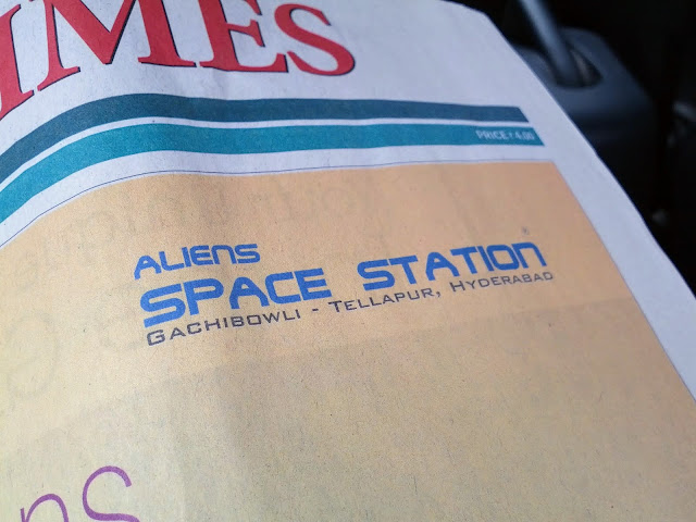 Points of interest in Hyderabad India: Aliens Space Station