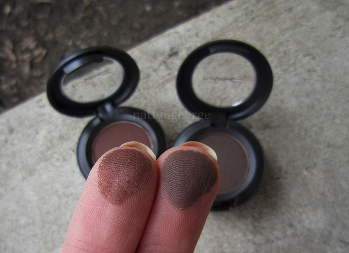 Mac Brown Down Amp Brun Eyeshadows Swatches