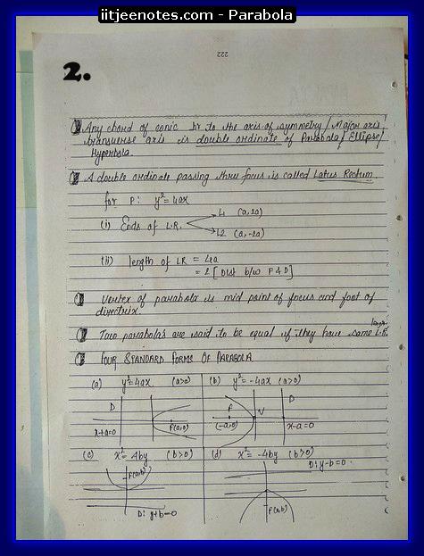 parabola notes2