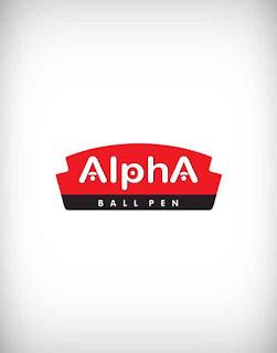 alpha ball pen vector logo, alpha ball pen logo, pencil, ink, point, closeup,  document, secretary, tool, ballpoint, study, luxury, accessories, report, signature, school, college, office, book
