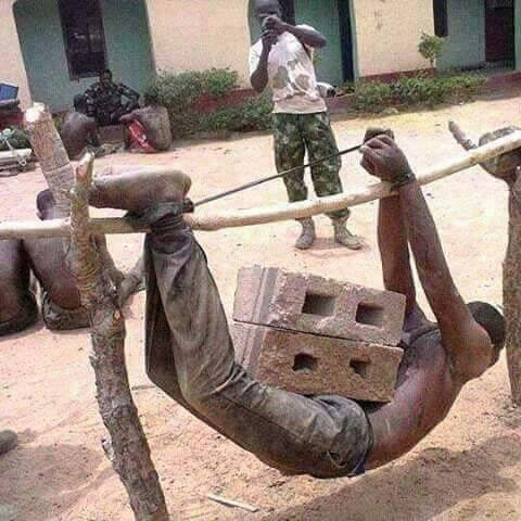 Oops! Check out the punishment civilian recieved from soliders