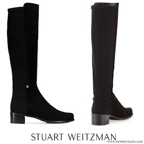 Kate Middleton wore Stuart Weitzman Mezzamezza black suede boots