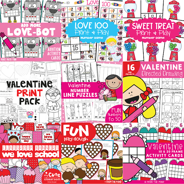 FREE Scrappy Valentine\'s Day Coloring Page | From the Pond