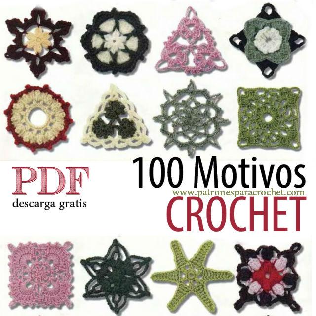 100 motivos y patrones para tejer crochet / pdf para descargar ...
