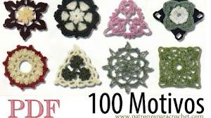 100 motivos y patrones para tejer crochet / pdf para descargar