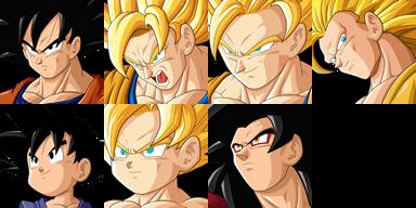 Graficos faciais Dragon Ball 1FGoku