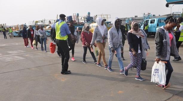 6672 nigerians deported libya 2017