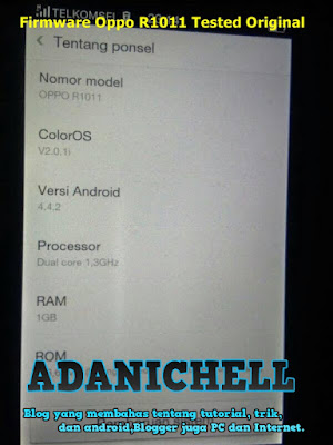 Firmware Oppo R1011 Tested Original