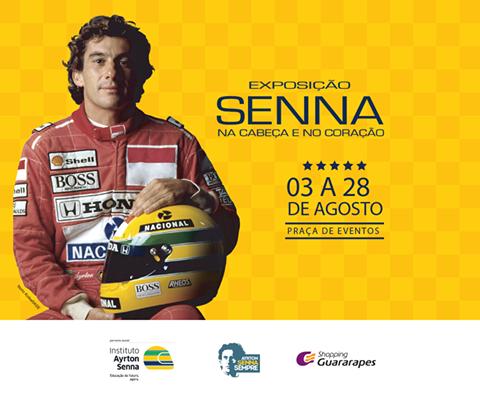 Exposição Senna  Na Cabeça e no Coração  no Shopping Guararapes