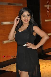 Telugu Actress Model Madhulagna Das Latest Spicy Stills in Black Short Dress  0003.JPG