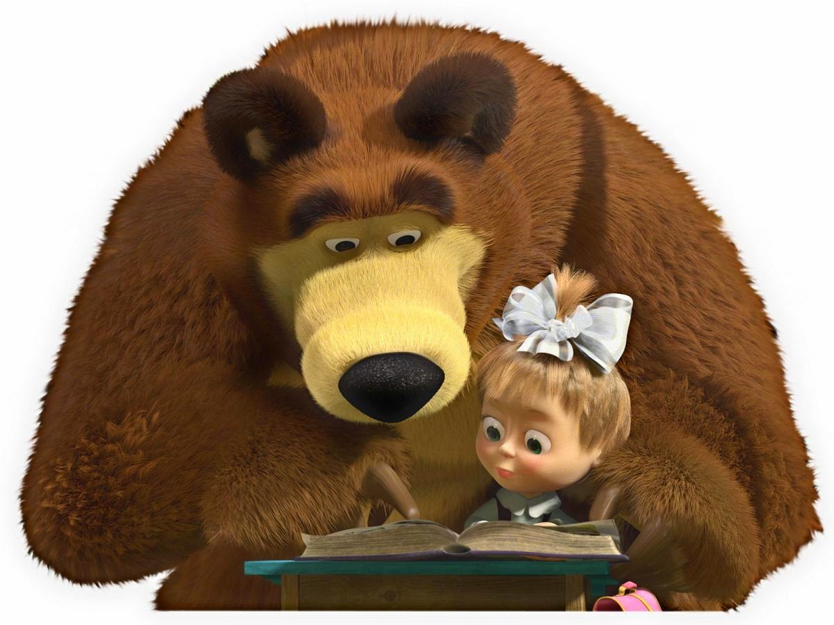 Gambar Masha and The Bear Lucu Animasi Bergerak Animated Gif