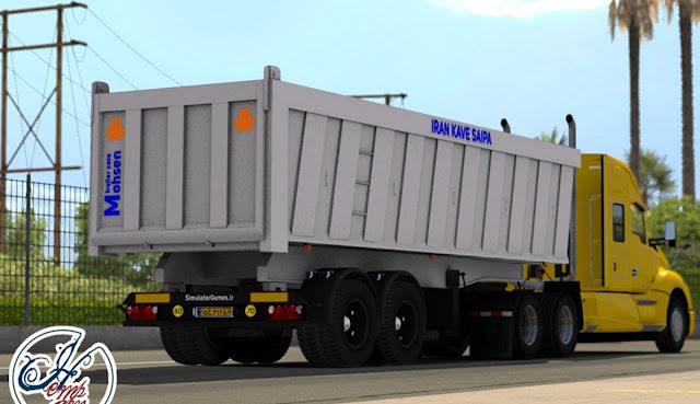 American Truck Simulator Iran Kave Saipa Trailer Mod Download MODs