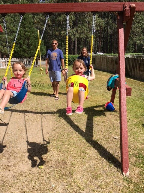 toddlers on swings