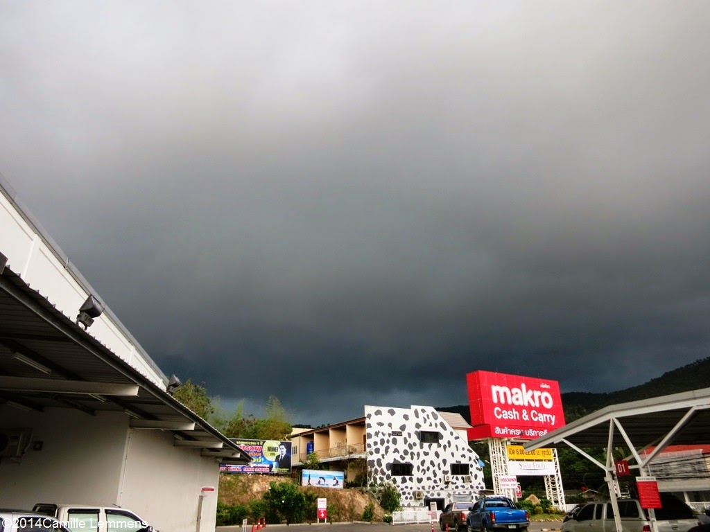 Rain clouds over Makro