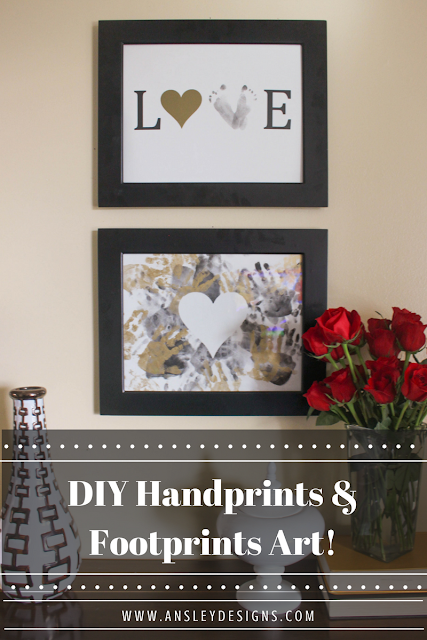 DIY Kids Handprint LOVE Art! Valentine's Day Craft