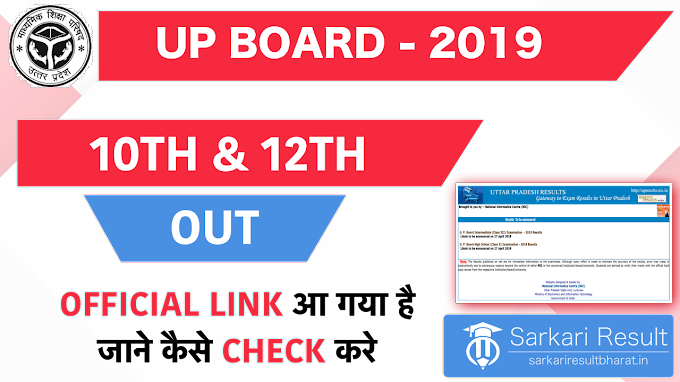 Check UP Board Result 2019 For Class 10th & 12th