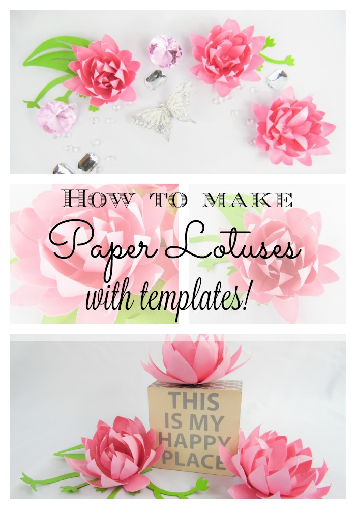 Easy diy small paper flowers lotus style abbi kirsten collections easy diy small paper flowers lotus style mightylinksfo