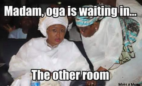 Check out this #TheOtherRoom meme featuring Aisha Buhari