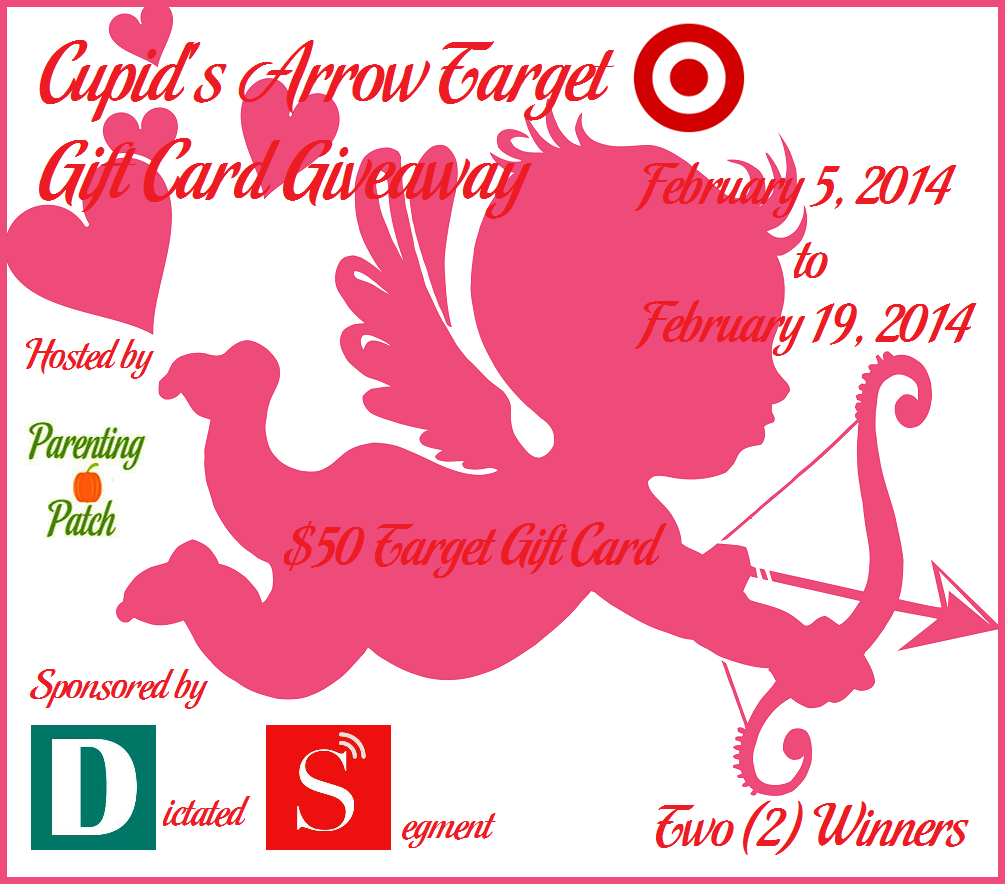Enter to win one of two $50 Target GCs in the Cupid's Arrow Target Gift Card Giveaway. Ends 2/19 12 am CST.