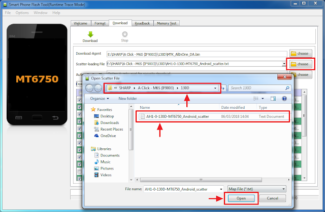 Cara Flash Sharp A Click IF9003 Menggunakan SP Flashtool