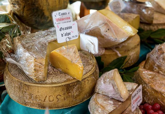 Alpine cheeses at La Tradizione